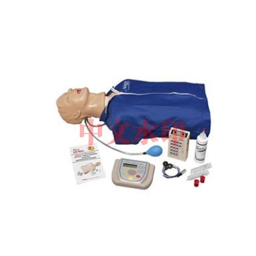 """德国3B Scientific®高级""""Airway Larry""""气道管理躯干模型,具有除颤特征、ECG模拟和 AED训练功能"""