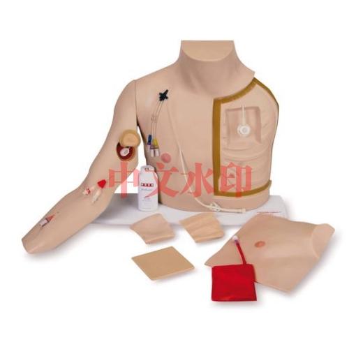 德国3B Scientific®高级胸部导管穿刺护理训练模型