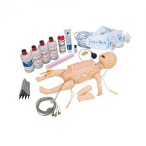 德国3B Scientific®全功能婴儿急救人体亚博体育官方版,带交互式ECG模拟装置